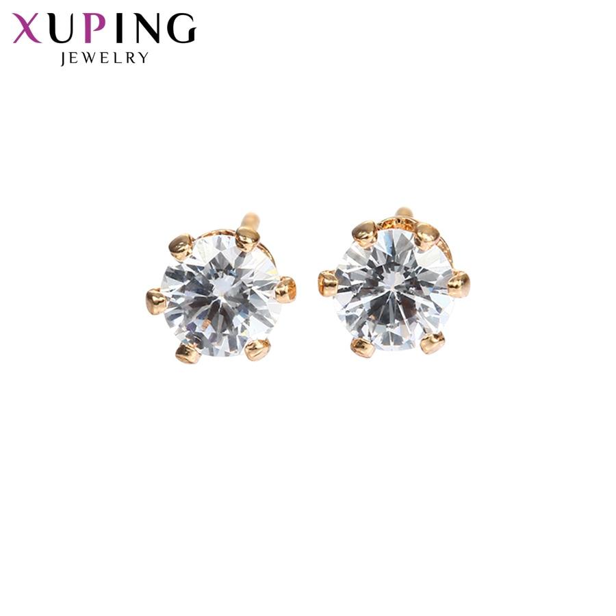 Xuping Коледна отстъпка Елегантни обеци Прост дизайн Различни материали Модни бижута за жени Сватба Stud 11111