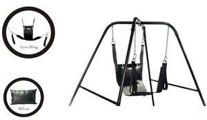 Image 1 - שתי שכבות באיכות מעולה קלע עור ערסל ערסל מיטת עור וכרית כיסא נדנדה סקס מין משחק למבוגרים צעצוע מין, 320