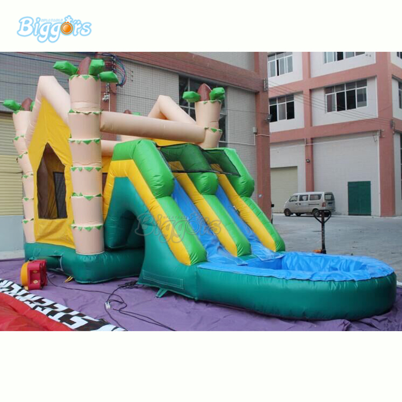In Stock commercial Inflatable bouncing water slide pool Inflatable water slide factory price inflatable backyard water slide pool water park slides pool slide with blower for sale