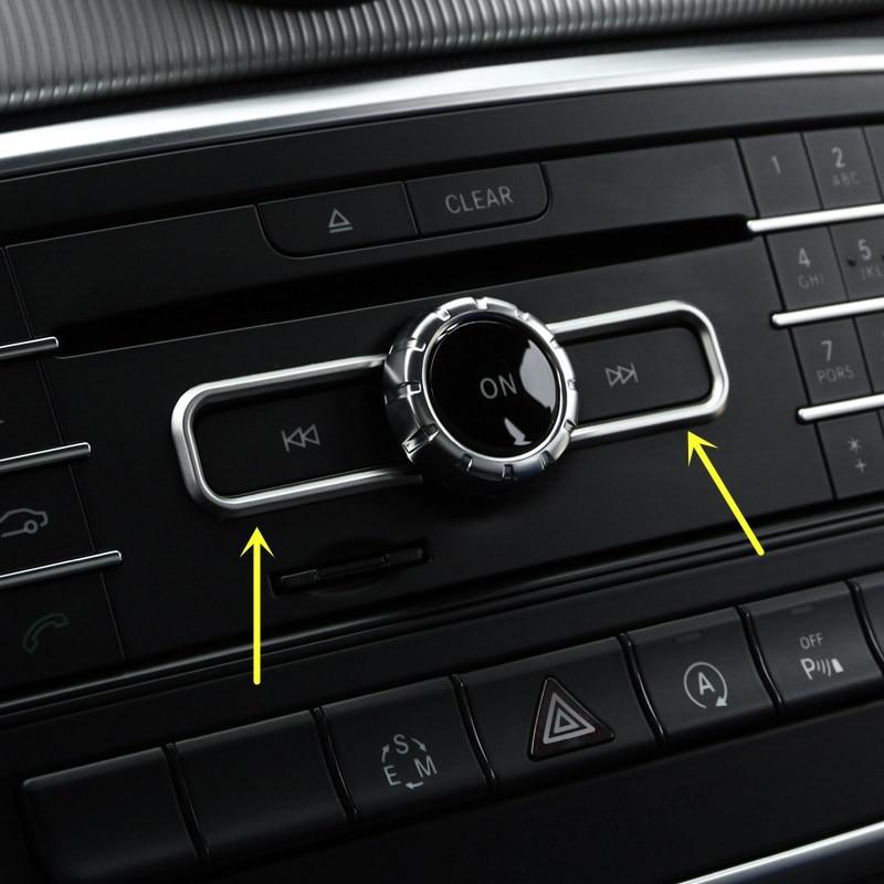 2pcs ABS Matte Interior Middle Console CD Control Button Cover Trim For Mercedes Benz A Class W176/B Class W246 2012-2017 welcome starter a class cd для занятий в классе cd