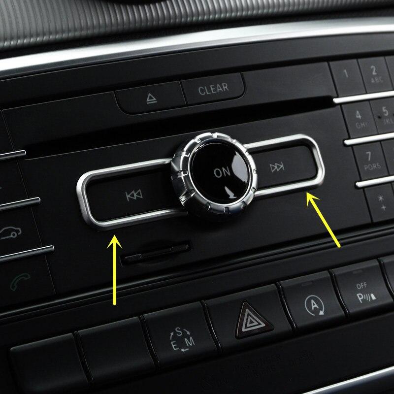 2pcs ABS Matte Interior Middle Console CD Control Button Cover Trim For Mercedes Benz A Class W176/B Class W246 2012-2017 magica italia 1 teachers guide class audio cd
