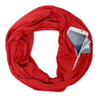 Portable Women Scarf with Pocket Infinity Scarf Winter Autumn Travel Journey Scaves AIC88
