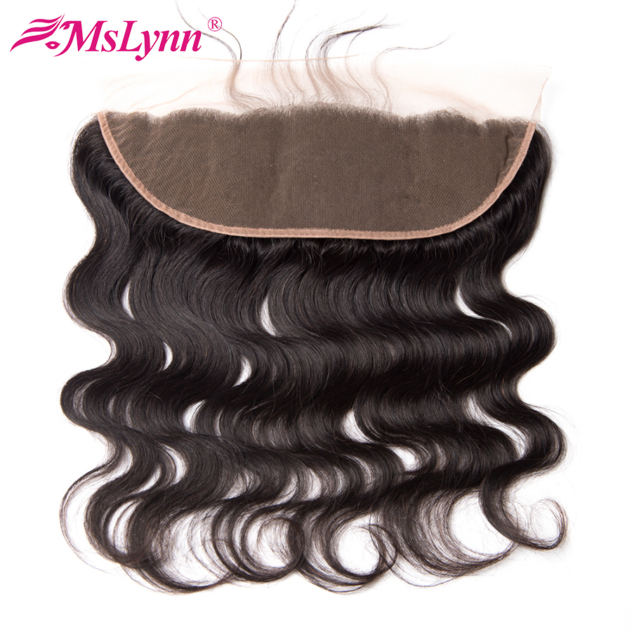 Mslynn Pre Plucked Lace Frontal Closure Peruvian Body Wave Ear To Ear Lace Frontal Human Hair