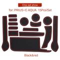 Smabee слот для ворот Накладка для Toyota PRIUS C aqua 2012-2019 межкомнатные дверные колодки/чашки Нескользящие коврики красный синий белый