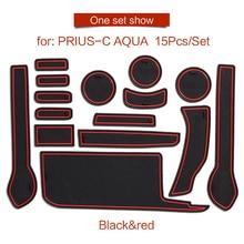Smabee Porta slot pad Per Per Toyota PRIUS C aqua 2012-2019 Porta per Interni Pad/Tazza di Non-slip rosso blu bianco