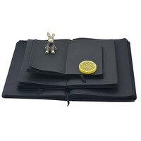 Kawaii DIY Drawing Notebook A5 A6 Diary Black Color Graffiti Watercolor Sketchbook Luxury Painting Dokibook Organizer Note Book