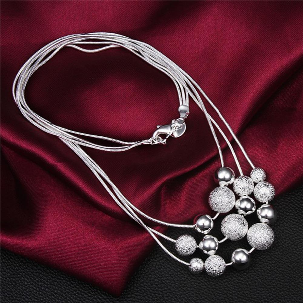 collier sterling silver choker jewelry necklace statement jewelry collares women 925 rosary brand Luxury free fashion