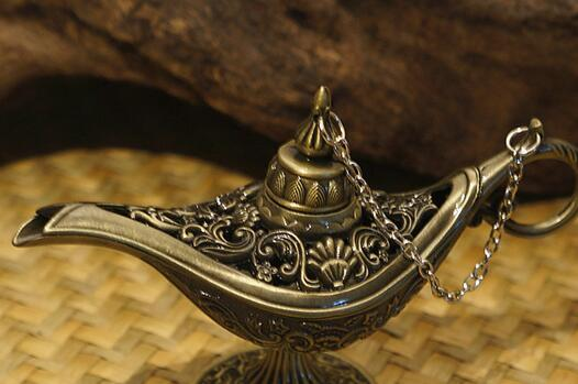 Hot Sale Fairy Tale Aladdin Magic Lamps Tea Pot Genie Lamp Vintage Toys Home Decoration For Children Gifts 1