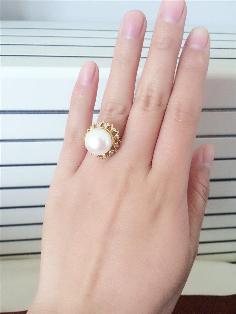Éternel mariage femmes cadeau mot 925 Sterling réel le nouveau naturel perle anneau pendentif double usage 925 sterling rin