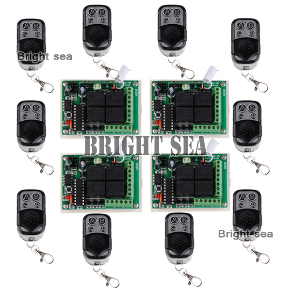 4 Receiver & 10Transmitter FR Wireless Remote Control switch system with 4CH DC12V Multifunctional wireless Module eva teks 10020 2