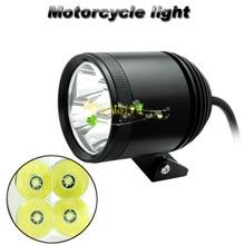 2017 Nouveau Portable Universal Moto Voiture Vélo U2 LED 3600LM DC10-30V Brouillard Spot Lampe