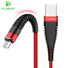 ФОТО floveme hi-tensile micro usb cable 1m braided data sync 2a charger phone cable for samsung galaxy s7 edge s6 xiaomi note 4x cabo