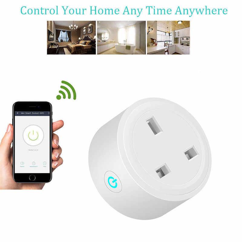 Ue usa wielka brytania z pilotem wtyczka do domu zdalna praca z Google Home Alexa IFTTT inteligentna wtyczka inteligentne gniazdo wifi monitor zasilania