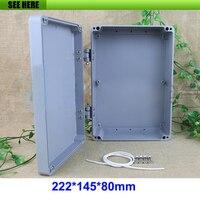 Caja de aluminio Industrial IP66 de 222x145x80mm/caja impermeable de Metal con bisagra Conectores Luces e iluminación -