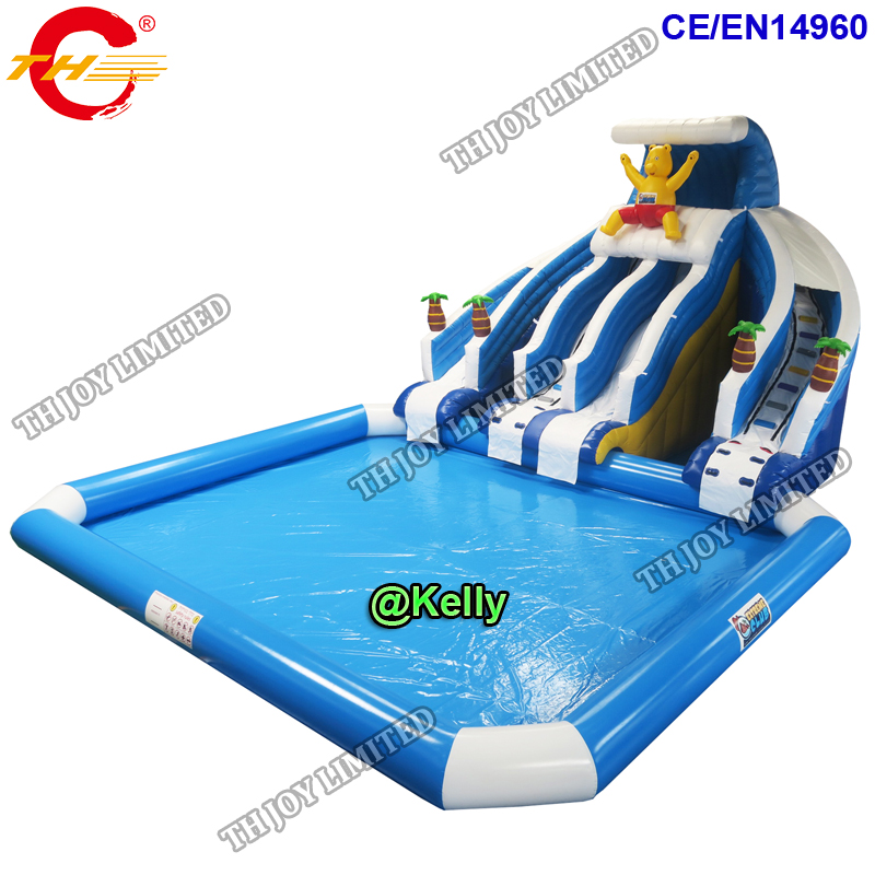 free shipping to sea port commercial inflatable aqua park for sale, big  inflatable water slide big swimming pool amusement park