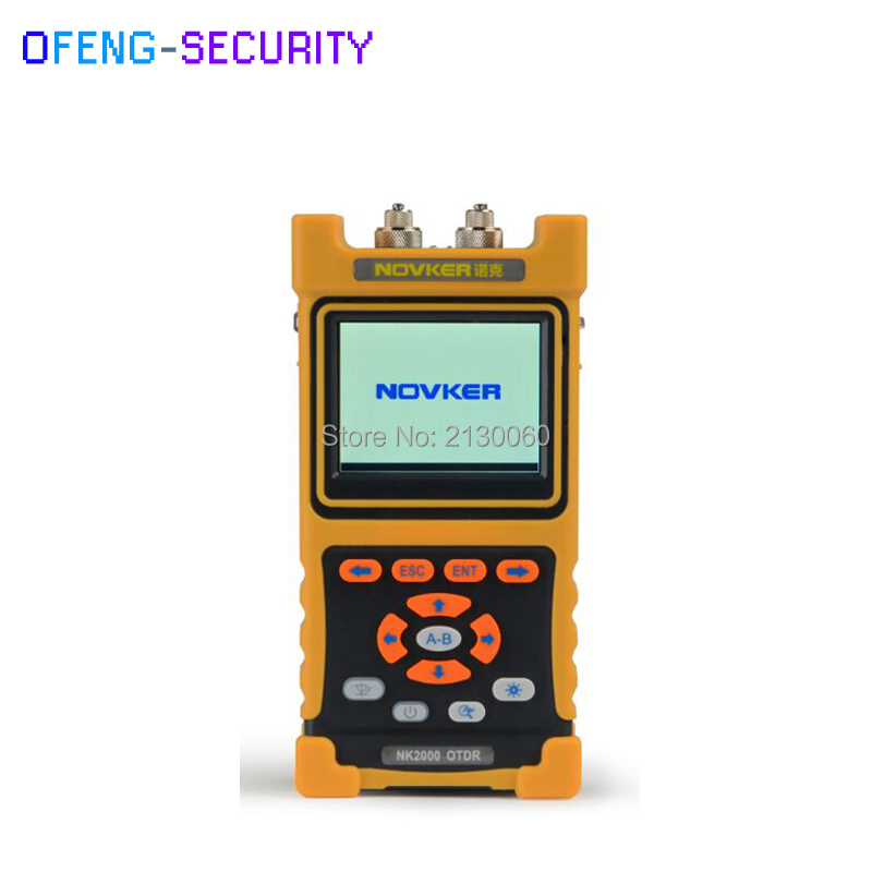NK2000 OTDR Handheld Optical Time Domain Reflectometer Touch Screen SM Built-in 2MW VFL 1310nm/1550nm 28/26dB,70km~80km