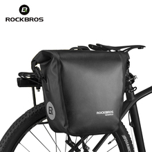 Rockbros Bike Bag 18L Bicycle Rack Bag Full Waterproof Nylon TPU MTB Road Cycling Bag Cycle Rear Seat Bag Accessories Black