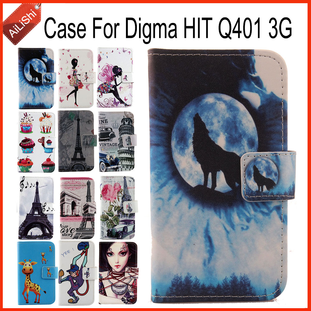 AiLiShi Factory Direct Case For Digma HIT Q401 3G Luxury Flip PU Leather Case  Exclusive 100%