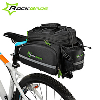 ROCKBROS Multifunctional Bicycle Rear Bag Waterproof Cycling Traveling Bag Portable Reflective MTB Bike Frame Large Capacity