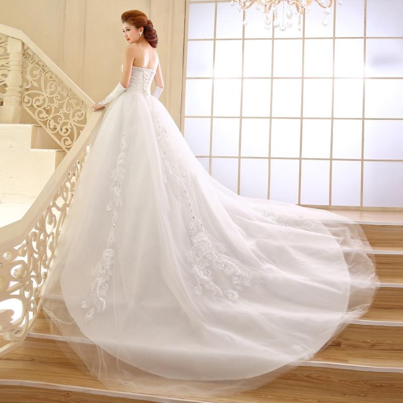 Wedding Gown Bra: 2016 New Winter Fashion Bra Strap Tail Wedding Dress, Big