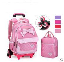 Марка детские рюкзаки с колесами для школьников Путешествия Камера сумка Тележка на колесах Коробки дети Прокатки Чемодан Mochilas