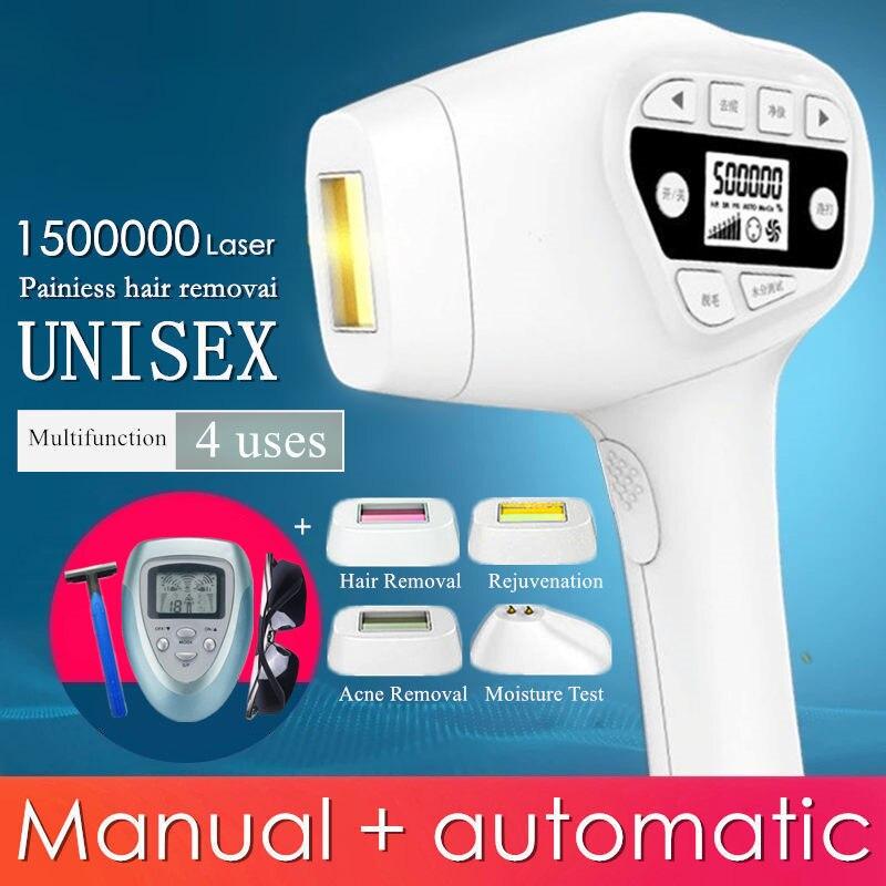 4 in1 IPL laser macchina di rimozione dei capelli del laser di rimozione dei capelli epilatore permanente bikini trimmer depilador elettrico laser gli uomini e le donne