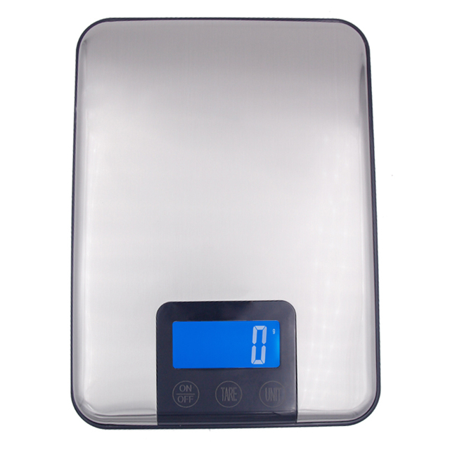 Digital Kitchen Scale Multifunction Food Scale With Foldable Hook, 33lb/15kg, Stainless