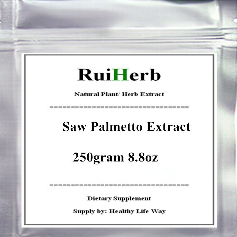 250gram 8.8oz Saw Palmetto 10:1 Extract Powder free shipping maca root extract powder 250gram 8 8oz high strength extract powder libido and sexual support