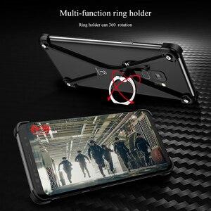 Image 3 - OATSBASF X forme anneau porte étui pour Samsung Galaxy note8 personnalité coque en métal pare chocs étui anneau