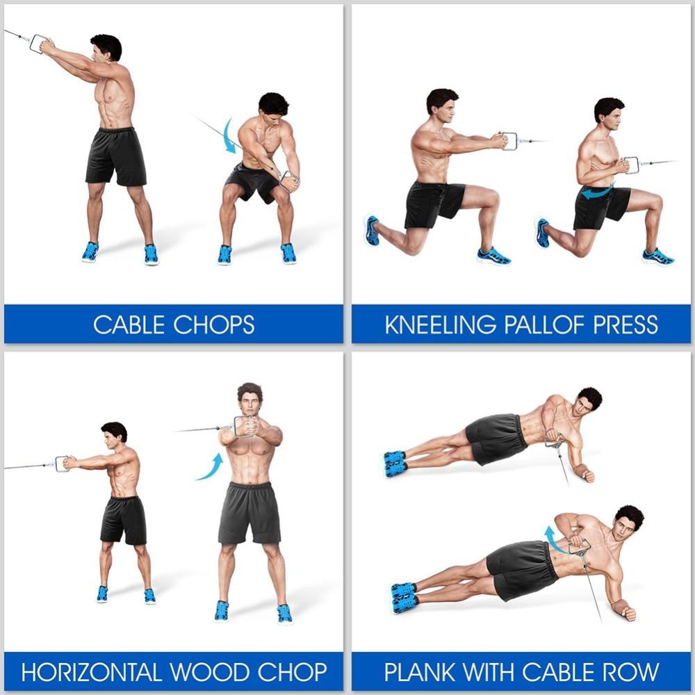Top Musculation de remise en forme Triceps Biceps Appuyez Câble  OO26