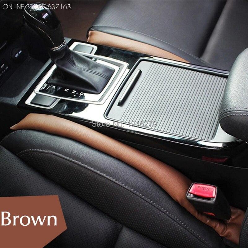 Car Seat Gap Plug Seat Leak Cover Decoration PU Leather Seam Plug Aperture Proof Pad For Toyota Corolla RAV4 Prius