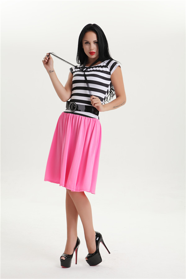 halloween costume for women womens plus size 2XL stripe 50s grease ...