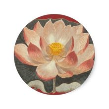3.8 cm Lotus Blossom, Lilypad, air Lily Simbol Buddha Klasik Putaran Sticker(China)