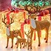 Christmas Reindeer Santa Craft Xmas Decoration Ornaments For Home And Tree Christmas Deer