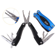 New Portable Folding Multifunctional Fishing Pliers Stainless Steel Scissors Line Cutter Remove Hook Fishing Tools