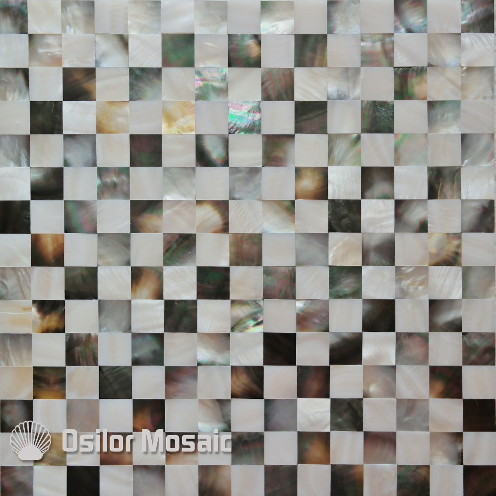 ФОТО Free shipping 100% sea shell and Chinese freshwater shell mother of pearl mosaic tile for interior house decoration wall tile