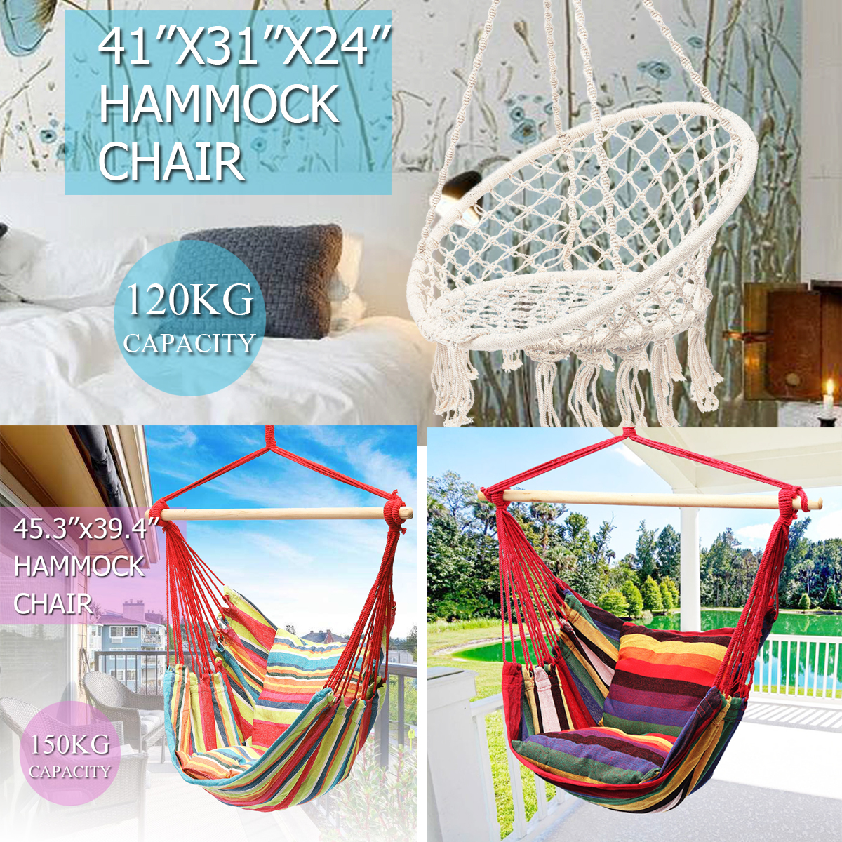 Nordic Round Hanging Hammock Chair Fashion Dormitory Bedroom Swinging Chair Outdoor Furniture Indoor Camping Cottage Garden