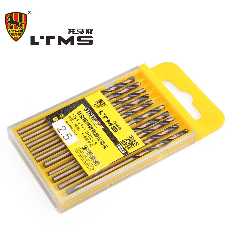 2.5MM Twist Drill High Speed Steel 10 pcs/set Woodworking Diagnostic-tool Drill Bits Power Tool Accessories Cordless Drill