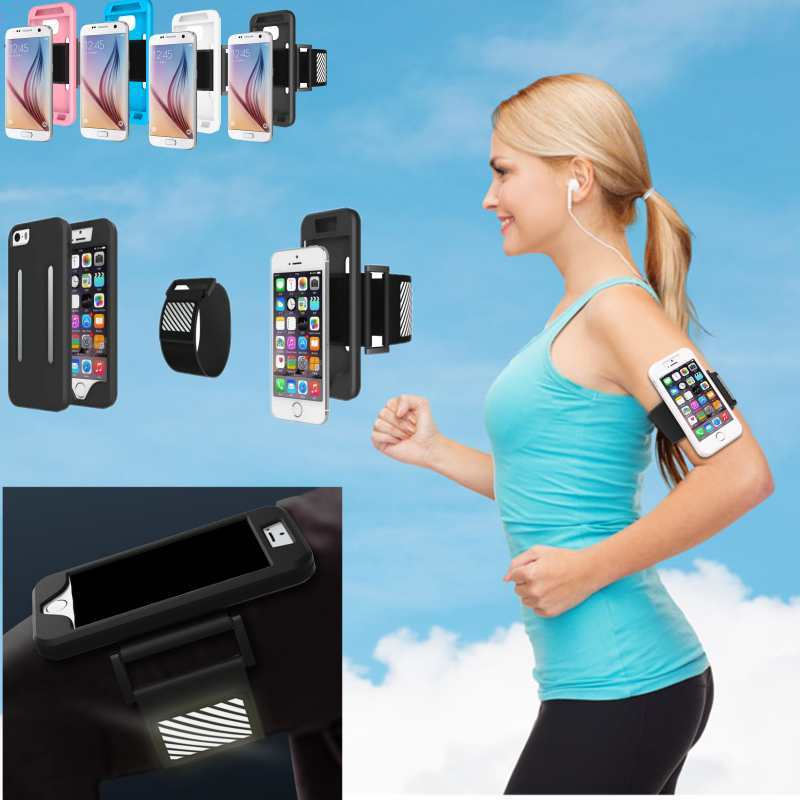more photos c9e41 f99bf US $6.34 |Mobile Phone Sports Running Armband Case For Apple iPhone 6/6S 6  Plus/6S Plus Workout Armband Holder Pounch Belt Cover Protector-in Armbands  ...