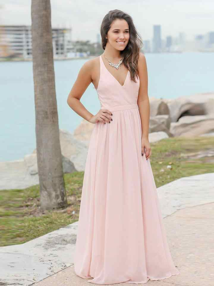 638b23d68f1 ... Custom-made Sexy Long Chiffon Lace Bridesmaid Dresses Pink Wedding  Party Dresses Beach Bridesmaid Gowns ...