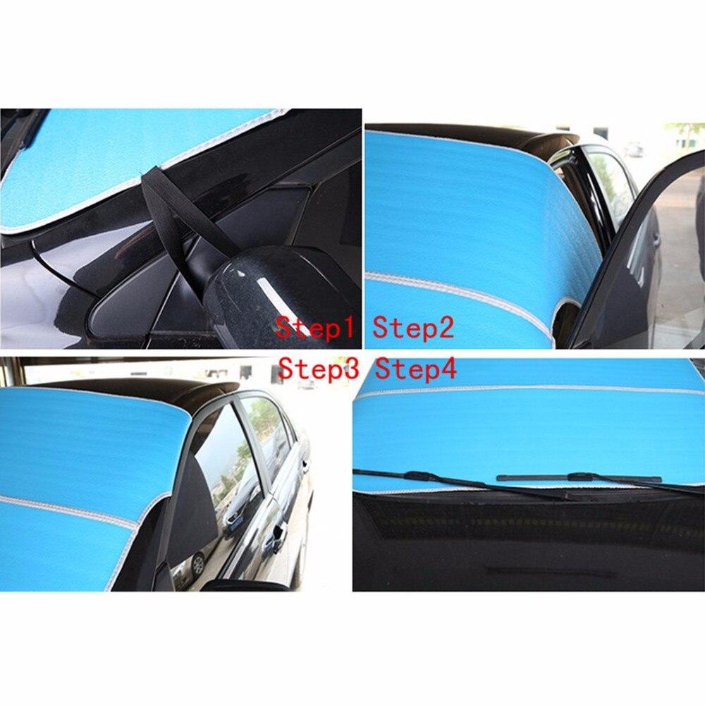 Glcc автомобиль Ветровое стекло теневое покрытие для защиты от солнца Снежная защита Чехлы универсальные для седан SUV MPV анти-УФ водостойкий Авто оконный протектор 3 цвета