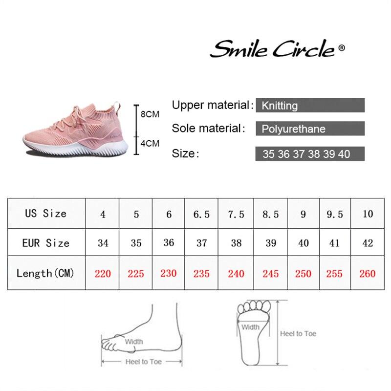 Kniting Sneaker Pour Mode Femmes 2019 Respirantes En Plates Printemps Sourire Chaussures Noir Cercle Léger Air Décontracté Automne Plein blanc TF1JlKc