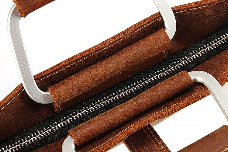 PU cuir vintage hommes dîner en cuir messenger sac sacs d'affaires mâle de haute qualité Crazy horse mallette en cuir pour homme 2019 - 5
