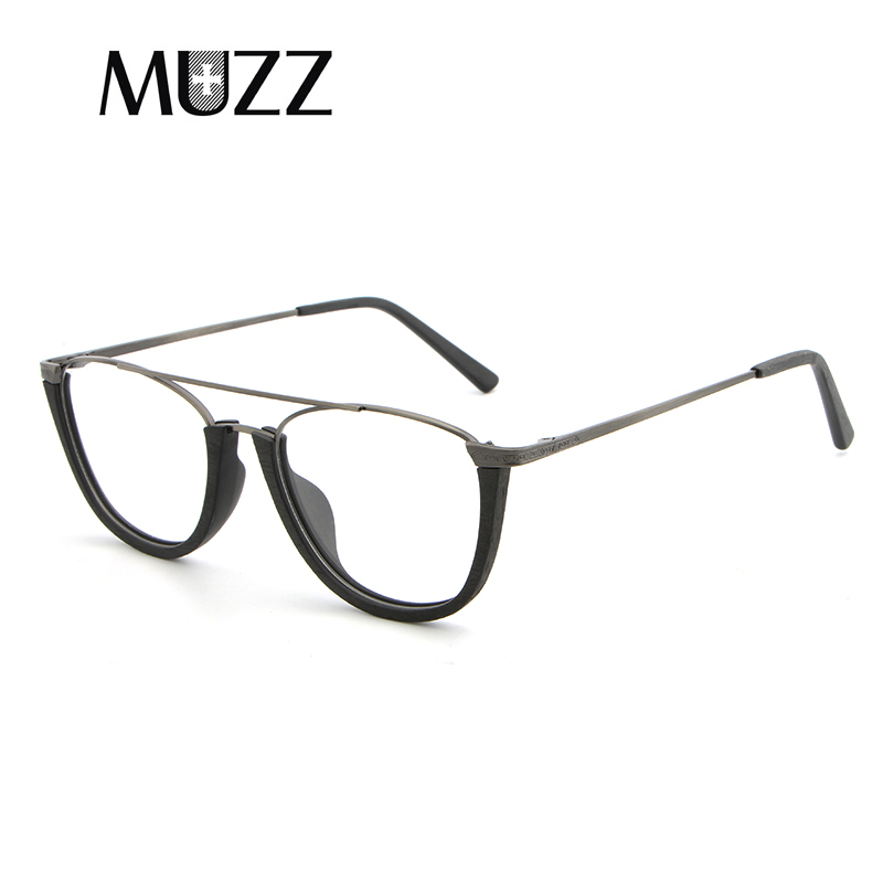 Image 5 - MUZZ Glasses Frame Wood Optical Glasses For Unisex Wooden Temple Frame Semi Rimless Eyeglasses Acetate Frames Men Spectacles-in Women's Eyewear Frames from Apparel Accessories
