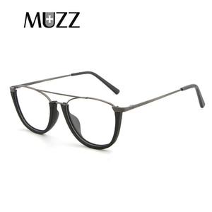 Image 5 - MUZZ деревянная оправа для очков, унисекс, полуоправа для деревянных дужек, без оправы, ацетатная оправа, мужские очки