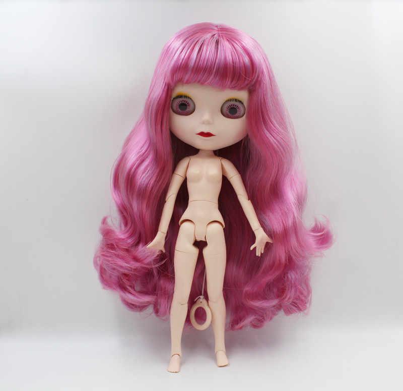 Frete Grátis BJD joint RBL-758 Blyth Nu DIY 4 cor olhos grandes bonecas boneca de presente de aniversário para a menina com a bela cabelo bonito brinquedo