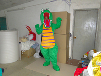 new arrival high quality handmade green dinosaur mascot costumes for sale