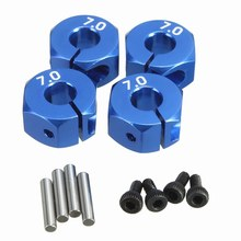 RC Blauw Aluminium 7.0 Wiel Hex 12mm Drive 4 P HSP HPI Tamiya Auto Voor Alle 1:10 RC Auto Tire onderdelen(China)