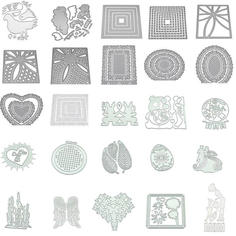 Découpe de métal pochoir bricolage Scrapbooking Album timbre papier carte gaufrage artisanat décor