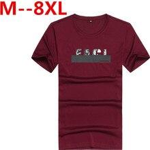 9XL 8XL 7XL 6XL Free shipping 2017 new fashion mens t shirt shorts elastic casual fitness men clothing solid cotton t-shirt male